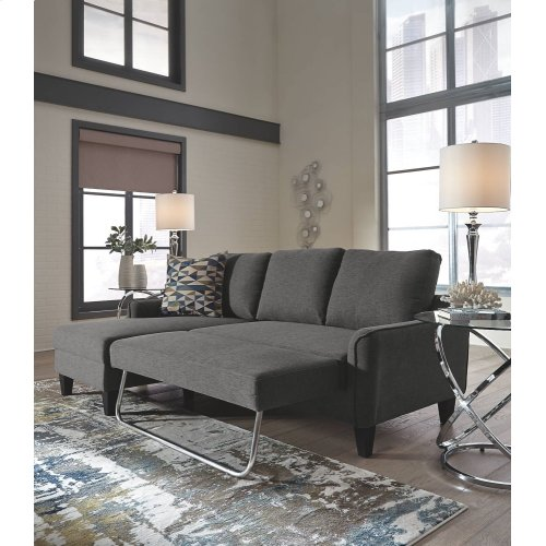 1150271 Jarreau 2PC Gray Sectional Sleeper
