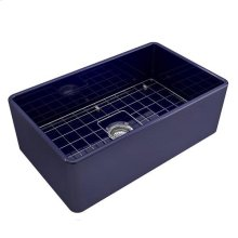 Crisfield Single Bowl Fireclay Farmer Sink - Cobalt