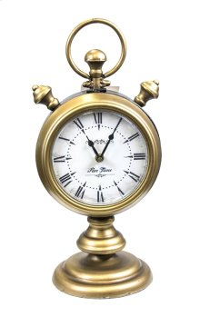 Metal, Two Sided Table Clock