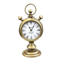 Gold Two-sided Table Clock