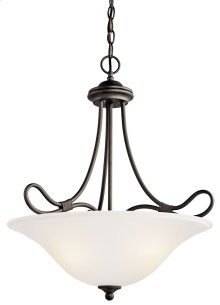 Stafford 3 Light Inverted Pendant Olde Bronze®