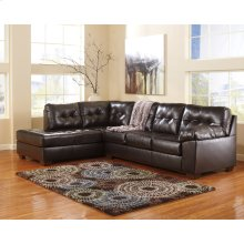 Signature Design by Ashley Alliston with Left Side Facing Chaise Sectional in Chocolate DuraBlend [FSD-2399SEC-CHO-GG]
