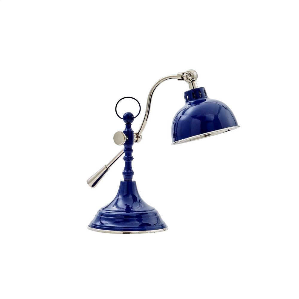Cedric Table Lamp, Navy Blue