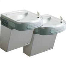 Elkay Versatile Cooler Wall Mount Bi-Level GreenSpec ADA, Non-Filtered 8 GPH Light Gray Granite