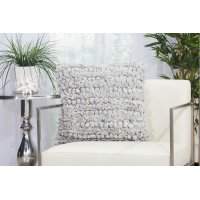 """Shag Dl658 Silver 20"""" X 20"""" Throw Pillows Product Image"""