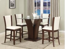 Camelia Counter Height Table & 4 White Chairs