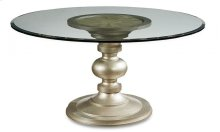 "Morrissey Wallen Round Dining Table 54"" Glass Top"