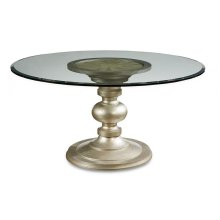 """Morrissey Wallen Round Dining Table 54"""" Glass Top"""