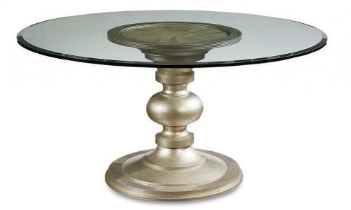 """Morrissey Wallen Round Dining Table 60"""" Glass Top"""