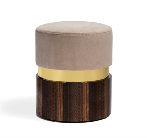 Kelsey Stool - Brass/ Taupe