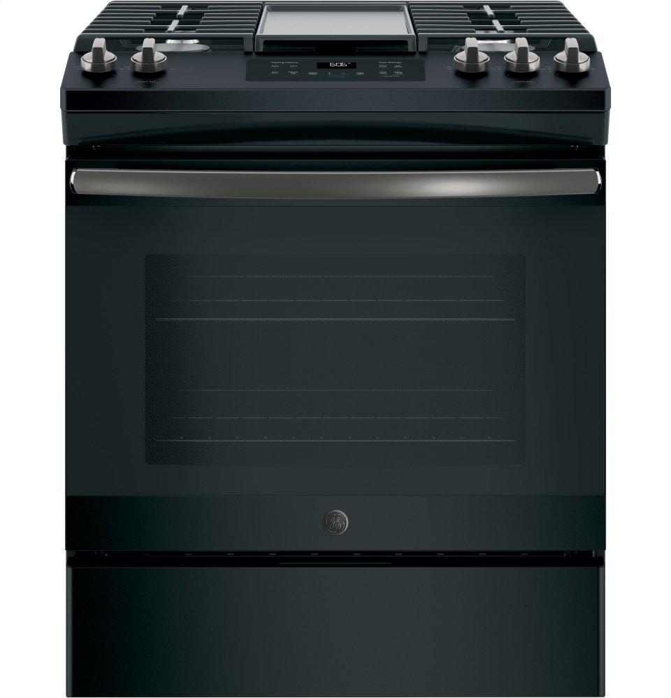 "GE(R) 30"" Slide-In Front Control Gas Range