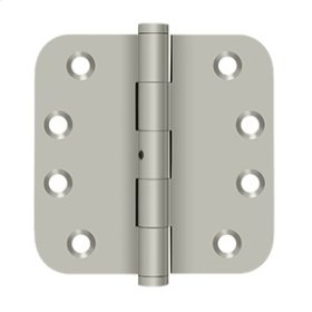"4""x 4""x 5/8"" Radius Hinges - Brushed Nickel"