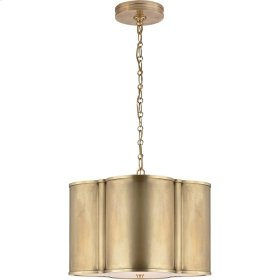 Visual Comfort AH5216NB Alexa Hampton Basil 2 Light 19 inch Natural Brass Hanging Shade Ceiling Light