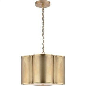 Visual Comfort AH5216NB Alexa Hampton Basil 2 Light 19 inch Natural Brass Hanging Shade Ceiling Light