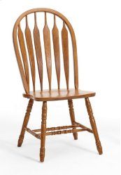 Classic Oak Detailed Arrow Side Chair