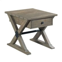 Trestle Drawer End Table