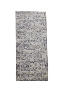 Grey & Blue Antique Wash 2' x 6' Jacquard Rug.
