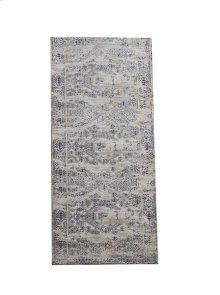 Grey & Blue Antique Wash 2' x 6' Jacquard Rug