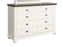 Mountain Retreat - 8 Drawer Dresser 2 Tone