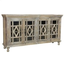 Bengal Manor Mango Wood Grey Wash 4 Door Sideboard