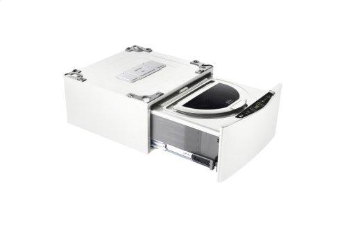 1.0 cu ft capacity SideKick Pedestal Washer, LG TWIN Wash Compatible - White
