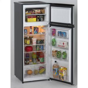 Avanti7.4 CF Two Door Apartment Size Refrigerator - Black w/Platinum Finish