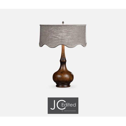 Rustic Walnut Wood Table Lamp