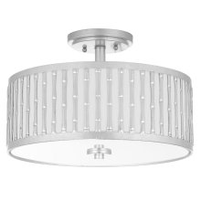 Pierce 3 Light 15.25-INCH Dia Silver Flush Mount - Silver