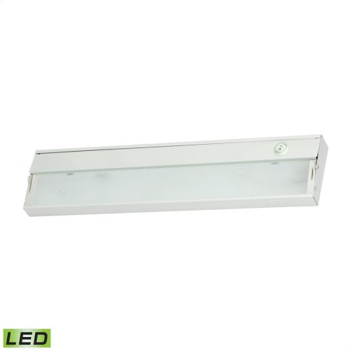 ZeeLED 2-Light Under-cabinet Light in White with Diffused Glass - Integrated LED