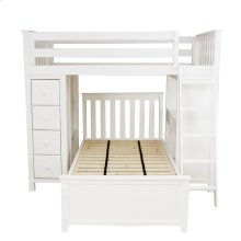 All in One Loft Bed Storage Study   Twin Bed White