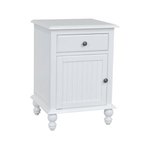 JOHN THOMAS FURNITURE1 Drawer / 1-Door Nightstand in Beach White