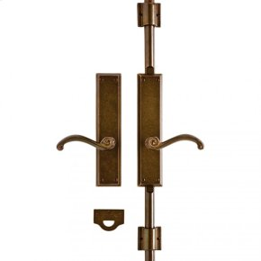 "Rectangular Cremone Bolt Set - 2 1/2"" x 11"" Silicon Bronze Rust"