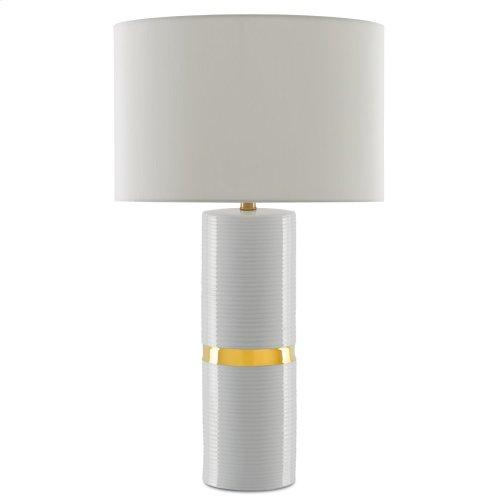 Enzo White Table Lamp