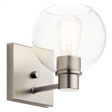 Harmony 1 Light Wall Sconce Brushed Nickel