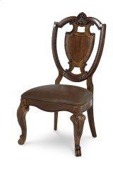 Old World Shield Back Side Chair Leather Seat Product Image