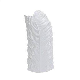 "White Leaf Vase 23.25"""