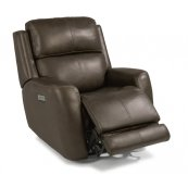 Zelda Leather Power Recliner with Power Headrest
