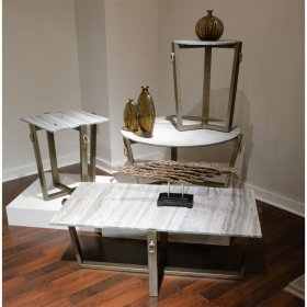 Rectangular Coffee Table Base - Carbon Steel Finish