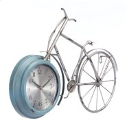 Bike Time Wall Clock Blue Product Image