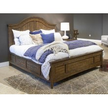 Complete King Arched Bed with Storage Rails