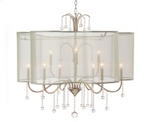 Antique Parisian Silver Nine-Light Chandelier