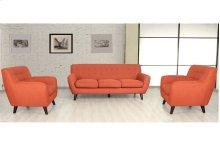 Edie U3025 Orange Sofa, Loveseat & Chair