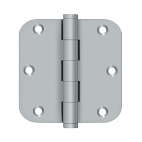 "3 1/2""x 3 1/2"" x 5/8"" Radius Hinge, Residential - Brushed Chrome"