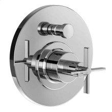Stoic Pressure Balance Diverter Valve for Tub & Shower Set - Cross Handle - Polished Chrome
