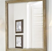 "Rustic Chic 28"" Mirror - Weathered Oak Product Image"