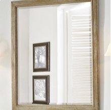 "Rustic Chic 28"" Mirror - Weathered Oak"