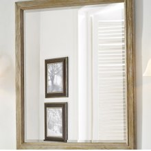 "Rustic Chic 28"" Mirror - Weathered Oak"