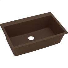 "Elkay Quartz Classic 33"" x 20-7/8"" x 9-7/16"", Single Bowl Drop-in Sink, Mocha"