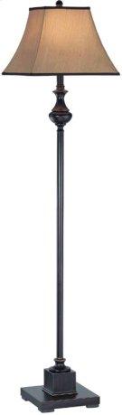 Floor Lamp - Dark Bronze/beige Fabric Shade, Type A 150w Product Image