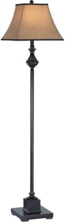 Floor Lamp - Dark Bronze/beige Fabric Shade, Type A 150w Product Image
